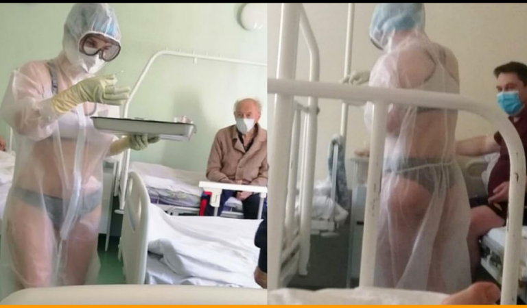 Russian Nurse Is Suspended After Wearing Bikini Under Transparent PPE Gown