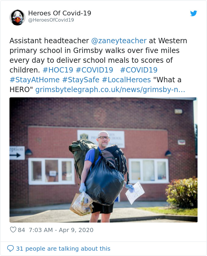 Inspiring Teacher Walks 5 Miles Daily with 40 Lbs of Free Food To Feed His 78 Students