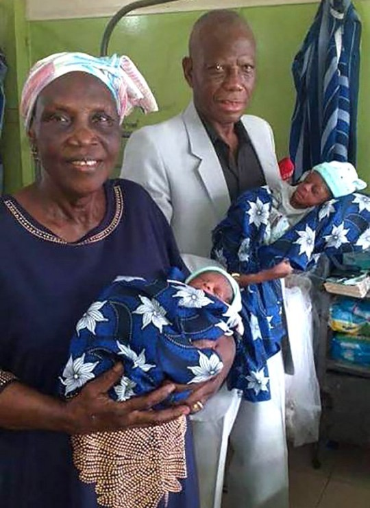 68-Year Old Woman In Nigeria Gives Birth To Twins After 46 Years of Trying