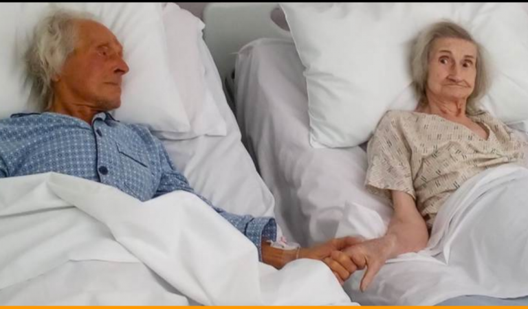 Elderly Couple Said Goodbye To Each Other On Hospital Beds After Being Married For 62Years