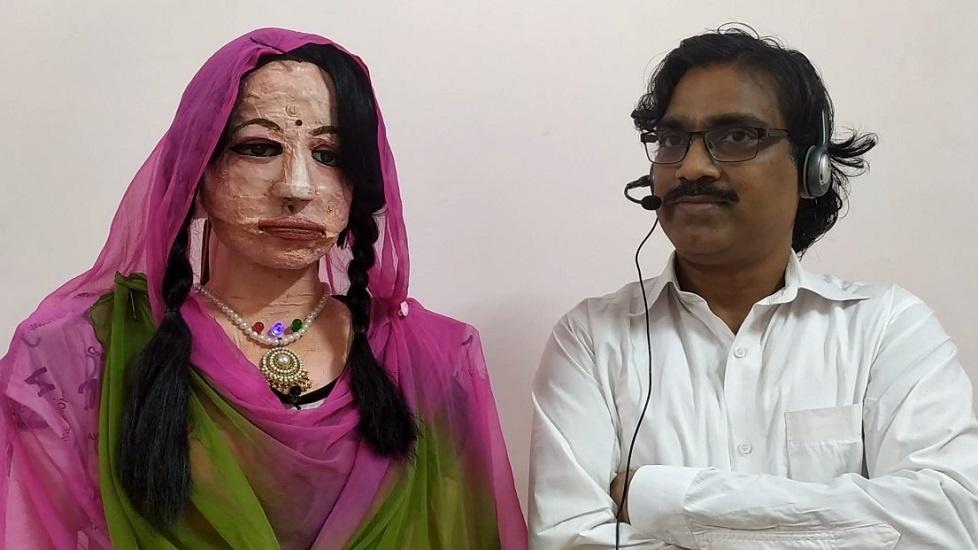 Indian Teacher Creates Human-like Robot That Can Speak 38 Languages