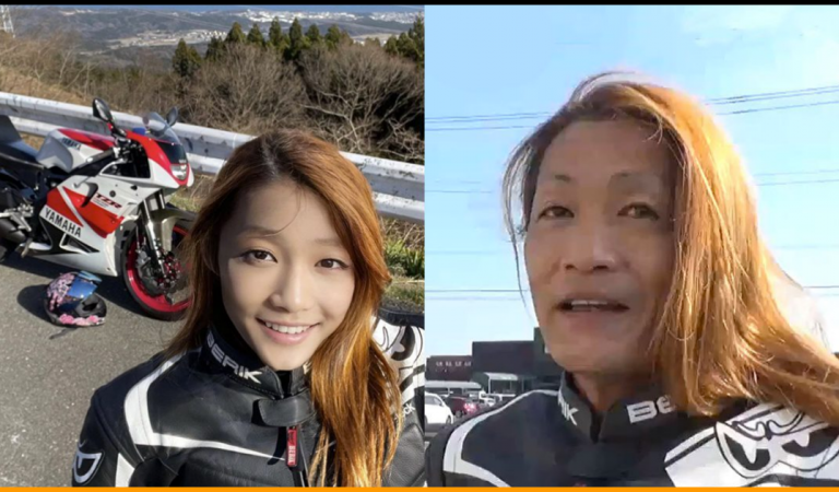 Young Female Japanese Motorbiker Turned Out To Be A 50-Year-Old Man