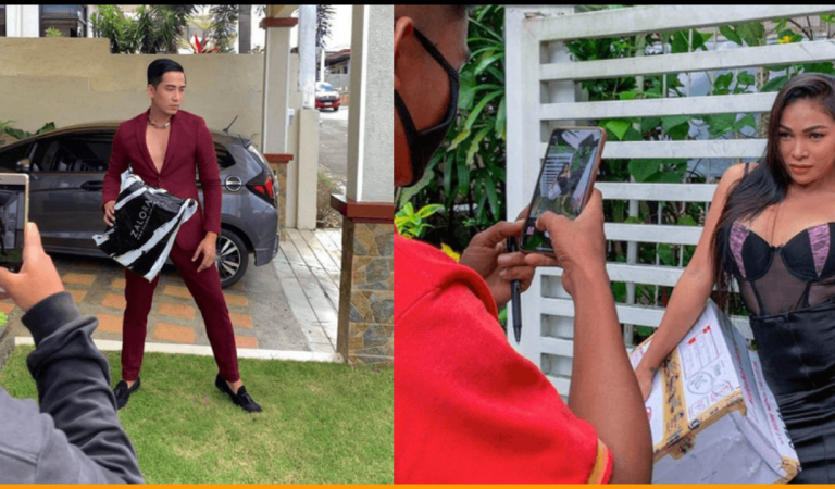 Creative Filipinos Strike Poses for Proof of Delivery after Receiving Online Orders