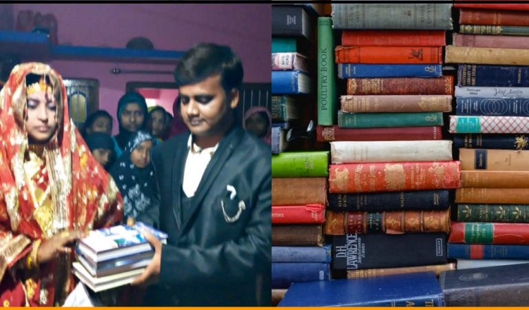 Indian Bride Rejected Dowry From Groom's Family and Asked For 80 Books Instead