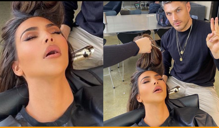 Kim Kardashian Gets Trolled by Hairdresser For Falling Asleep in Chair Mid-Glam Session