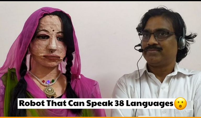 Indian Teacher Creates Human-like Robot That Can Speak 38 Languages