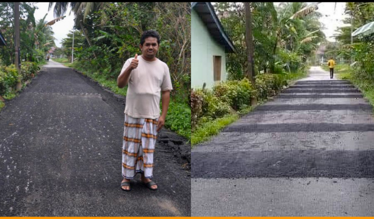Man Installs 11 Speed Bumps near His Home To Get Rid of Noisy Vehicles At Night